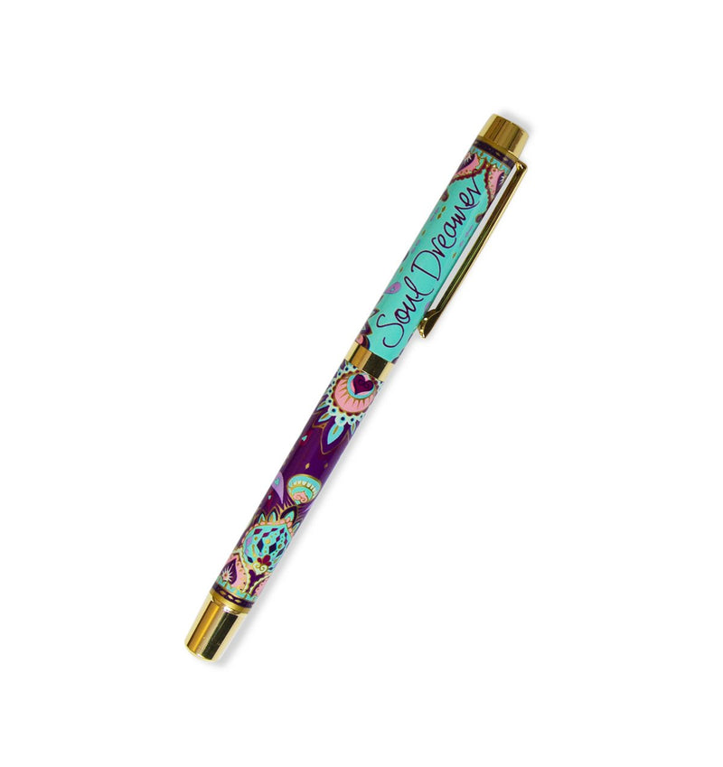 Intrinsic Turquoise and Purple Boho Roller Ball Pen