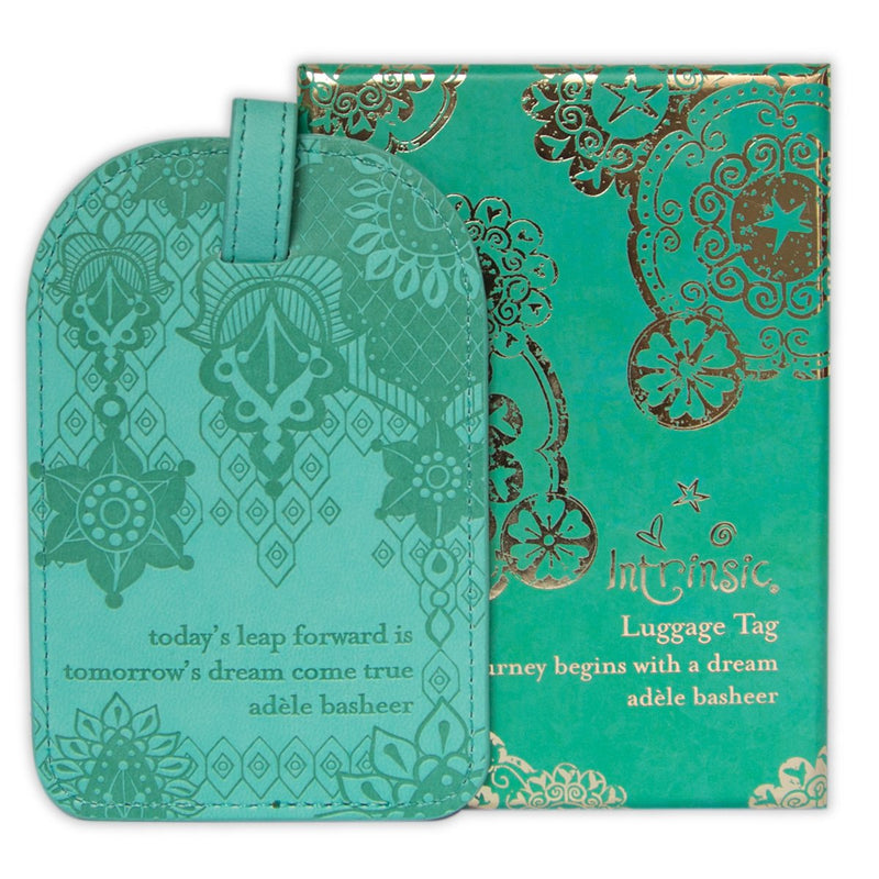 Intrinsic-Tahitian Turquoise Luggage Tag