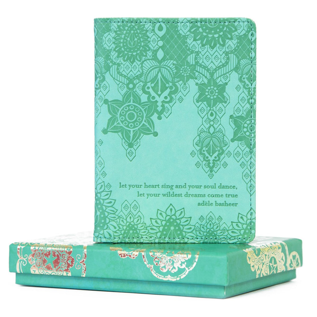 Intrinsic Tahitian Turquoise Aqua Passport Wallet and Passport Cover for Travel