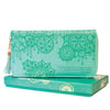 Intrinsic-Tahitian Turquoise Travel Clutch