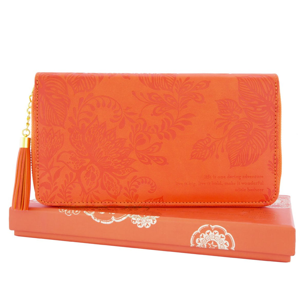 Intrinsic-Tangelo Travel Clutch