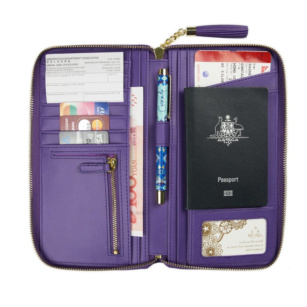 Intrinsic-Violet Travel Clutch