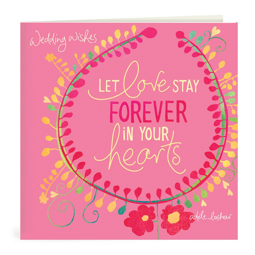 Wedding Wishes Greeting Card Intrinsic