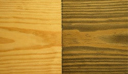 TIP: Grain Reversal in Stained Pine