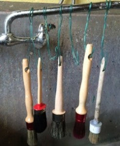 Caring for Natural Bristle Brushes used with Water Based Paints