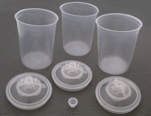 FS2507  3M Paint Preparation System 3-pack Qt. Lids and Liners
