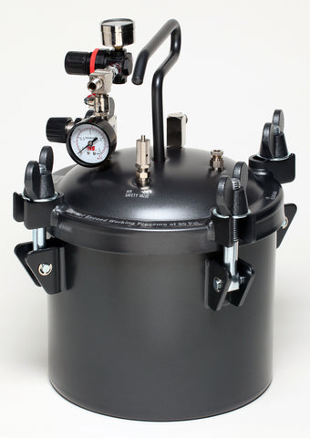 A4166  2.5 Gal. (10 L) Pressure Pot with Dual Regulator