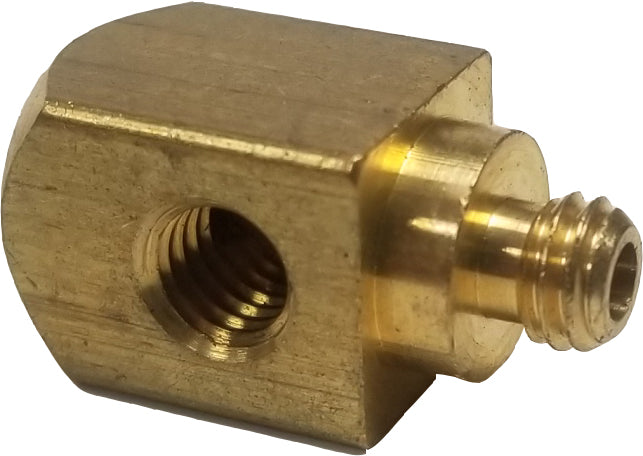 A5266  90 degree miniature brass block, Q/R guns.
