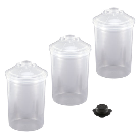 FS2507-2  3M PPS Large 2.0 28oz (850mL) Lids & Liners with Cap