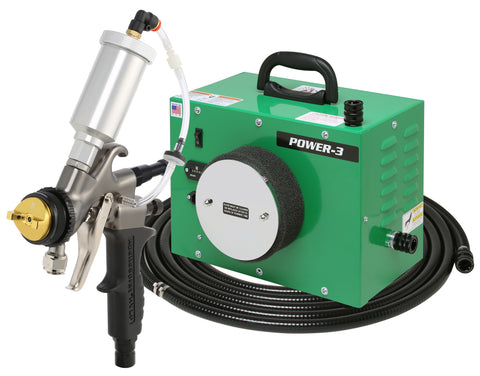 PW3-110-7700GT-90 Apollo POWER-3 Turbo paint spray system with 7700GT-90 Spray Gun