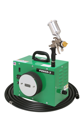 PW3-110-7500GT-250 Apollo POWER-3 Turbo paint spray system with 7500GT-250 Spray Gun
