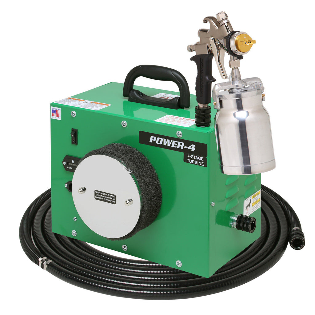 PW4-110-7700QT Apollo POWER-4 Turbo paint spray system with 7700QT spray gun