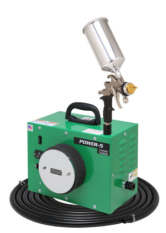 PW5-110-7500GT-1000  Apollo POWER-5 Turbo paint spray system with 7500GT-1000 spray gun