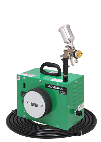 PW5-110-7500GT-250 Apollo POWER-5 Turbo paint spray system with 7500GT-250 spray gun