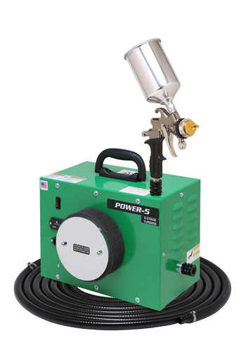 PW5-110-7500GT-600  Apollo POWER-5 Turbo  paint spray system with 7500GT-600 spray gun