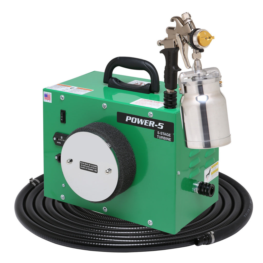 PW5-110-7700QT Apollo POWER-5 Turbo paint spray system with 7700QT spray gun