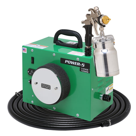PW5-110-7500QT Apollo POWER-5 Turbo paint spray system with 7500QT spray gun