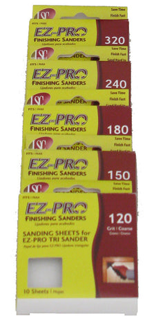 EZ-PRO Triangle Refill Packs of Varying Grits