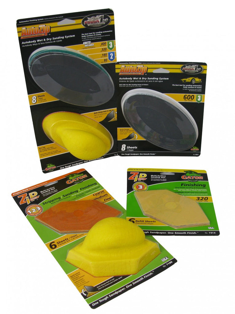 FS1300  Zip Sander 1 and Auto Sander Plus a 6 Pack Refill 320 & 8 Pack Refill of 600