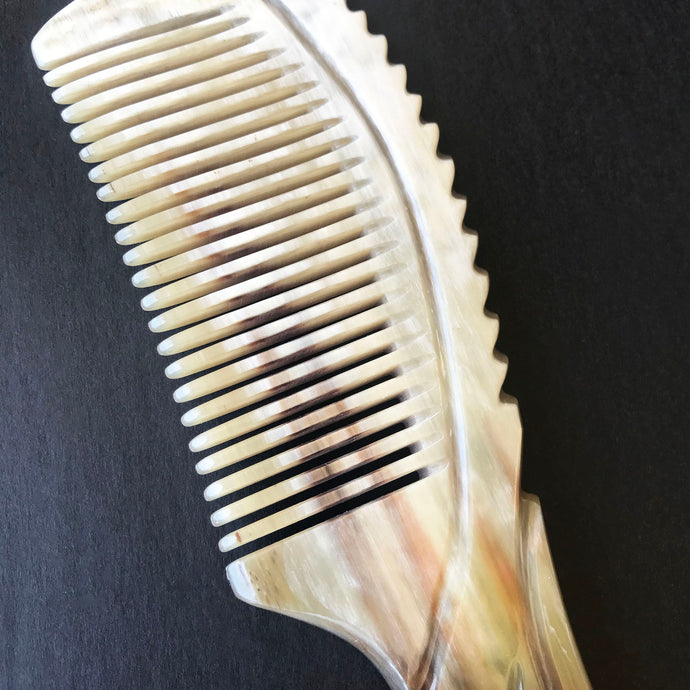 The history of buffalo horn combs and how they are made