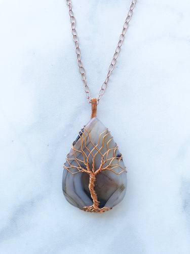 Agate Tree Of Life Pendant