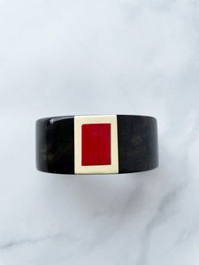Black And Red Cuff Bracelet
