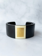 Load image into Gallery viewer, Black And Gold Cuff Bracelet
