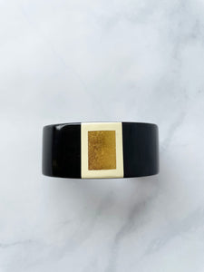 Black And Gold Cuff Bracelet