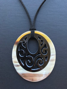 high quality buffalo horn pendant