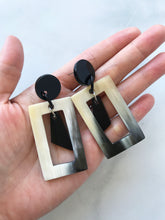 Load image into Gallery viewer, Buffalo Horn Geometric Earrings