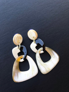 Favorite Chandelier Earrings / Black & Creamy