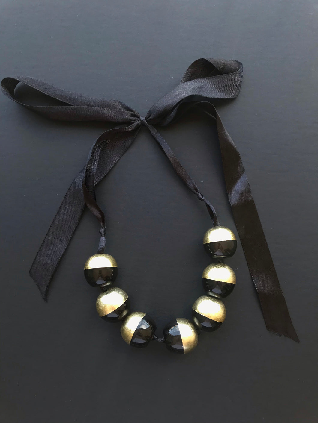 Lacquered Buffalo Horn Necklace