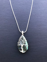 Load image into Gallery viewer, Tree Of Life Necklace - Labradorite, Sterling silver 0.6 oz