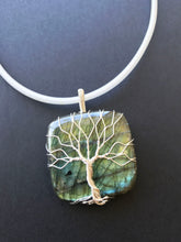 Load image into Gallery viewer, Large Labradorite sterling silver Tree Of Life pendant