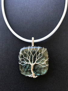 Large Tree Of Life gemstone pendant big stone pendant