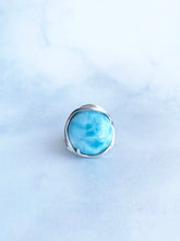 Load image into Gallery viewer, Round Larimar Ring