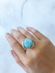 Larimar Statement Ring