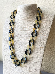Twist chain necklace made of buffalo horn