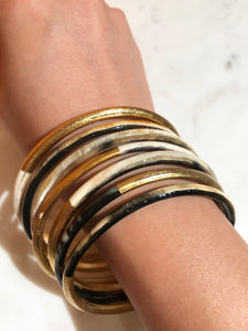 buffalo horn bracelet set on real hand