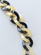 Load image into Gallery viewer, details of twist chain necklace made of buffalo horn