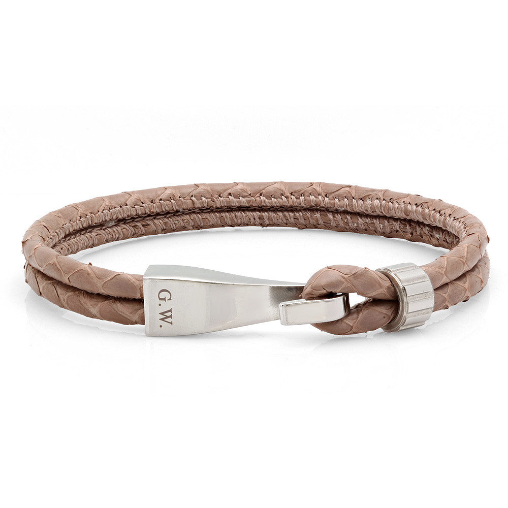 Light Brown Snake Skin Bracelet