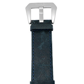 Worn Blue Leather Strap - Builder