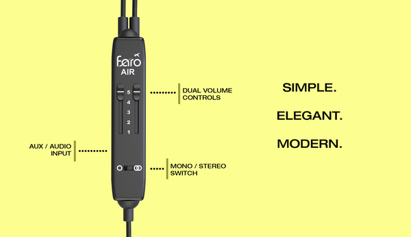 FARO AIR Aviation Headset Controller