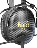 FARO Aviation G3 ANR Carbon Fiber Aviation Headset With Bluetooth