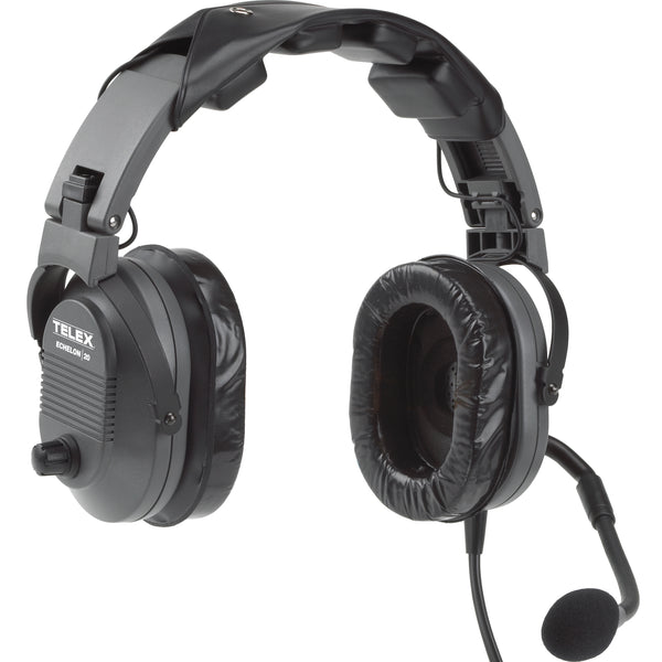 Telex Echelon 20 Passive Noise Reduction Aviation Headset - Professional Aviation Headsets