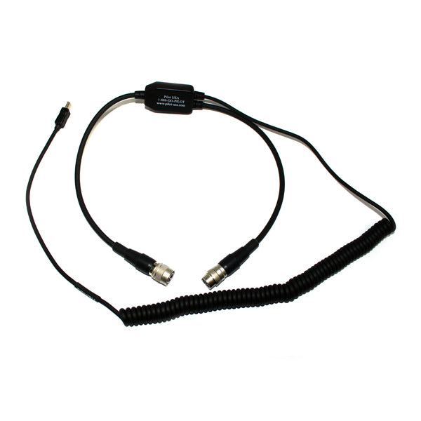 Pilot-USA PA-80D/VIRB Garmin Virb Recorder Adapter for David Clark - Professional Aviation Headsets