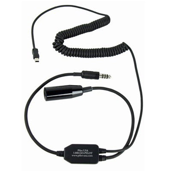 Pilot-USA PA-80H/VIRB GArmin VIRB Recorder Adapter For Helicopter Headset