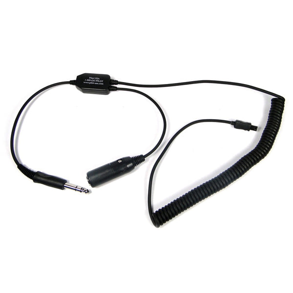 Pilot-USA PA-80S/VIRB GArmin VIRB Recorder Adapter For GA (Dual Plug) Headset