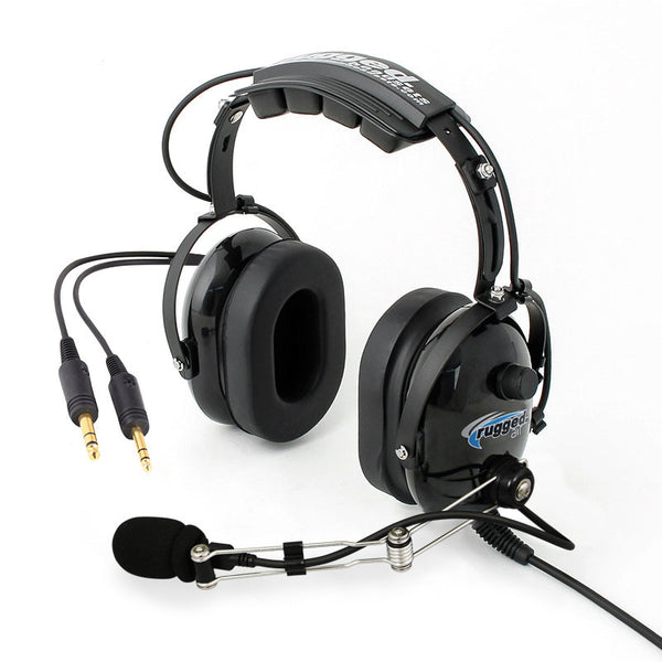 Rugged Radios RA200 General Aviation Pilot Headset - Professional Aviation Headsets