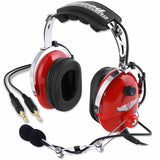 Rugged Radios RA250 Red Child General Aviation Pilot Headset